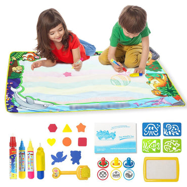 Reusable Water Drawing Coloring Board Educational Toys for children