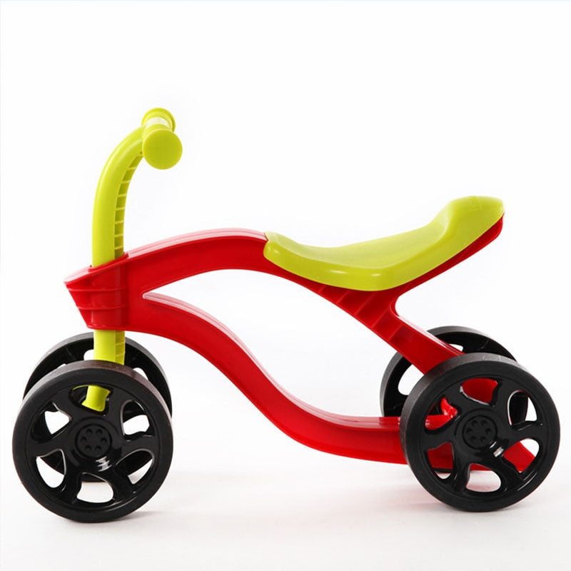 4 Wheels kids Push Scooter Balance Bike Walker Infant Scooter toy.