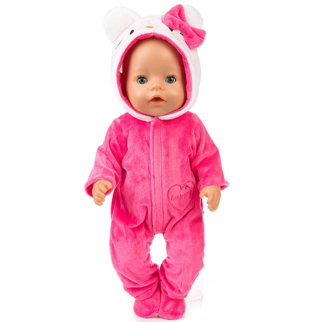 Baby New Born Fit 17 inch 43cm Doll Clothes Accessories Toys For kids