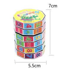 Learning Montessori Math Toy Rotating  magic cube For Kids Training