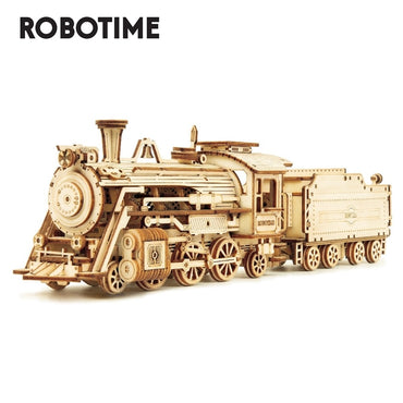 Robotime DIY Laser Cutting Mechanical Wooden Building Kit Toy for kids