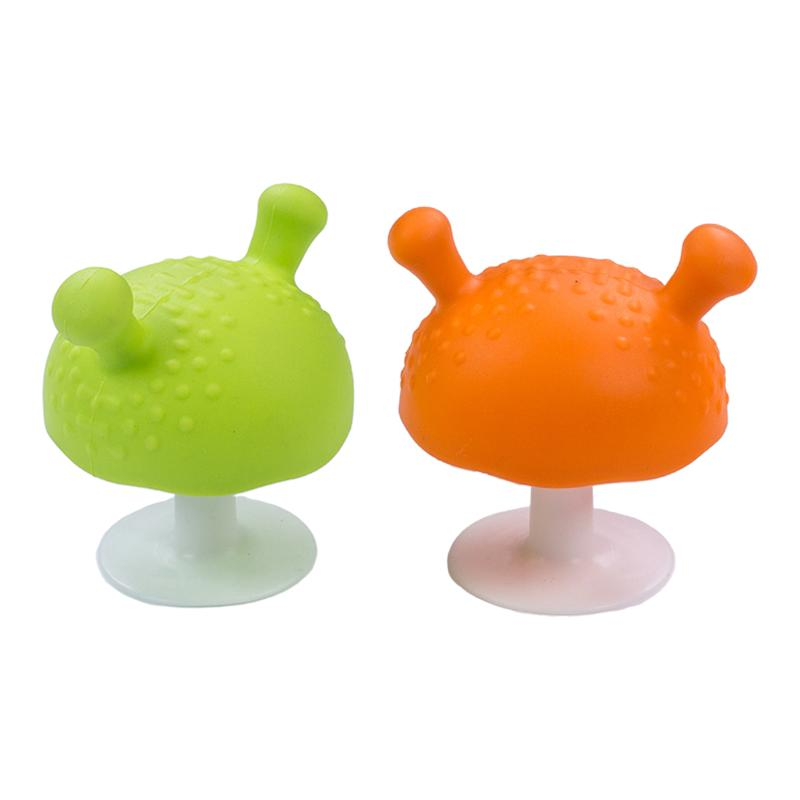 2pcs Infant Silicone Mushroom Soothing Teether  Molar Teeth Kids toy