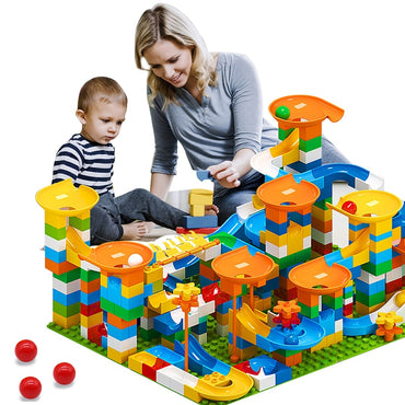 Marble  Block Maze Ball Compatible DIY Big Bricks Toys For Children