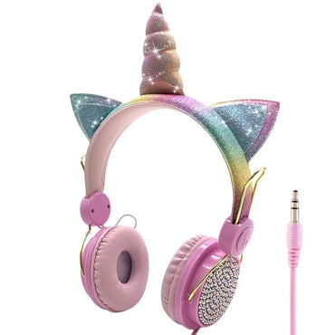 LOL dolls surprise Unicorn Wired Headphone With Microphone Kids toy