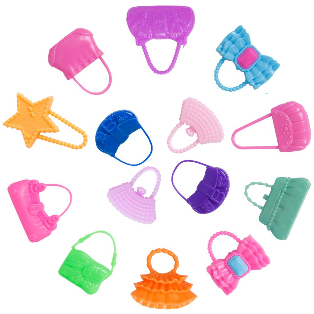 42Item Doll Accessories Shoe Necklace Glass Crown Handbag dress kid toy