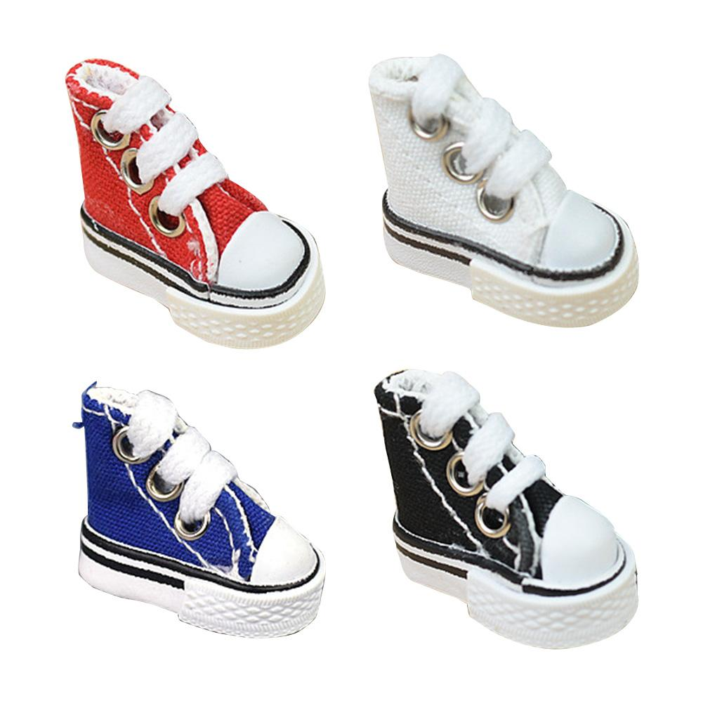Kids Accessories Doll Shoes 3.5cm High Top Canvas Doll  Handmade toys