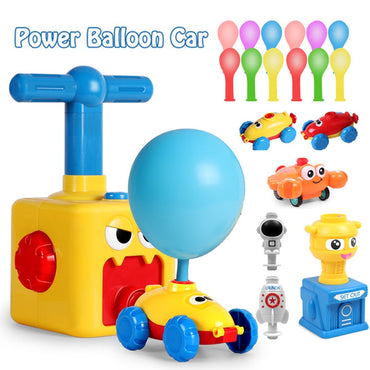 Kids Air Power Balloon With Rocket  Launche Flying Powered Car Fun Toy