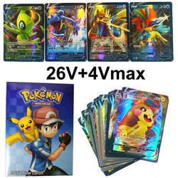 30PCS Pokemon Cards Collection Trading Game Card toys For Kids