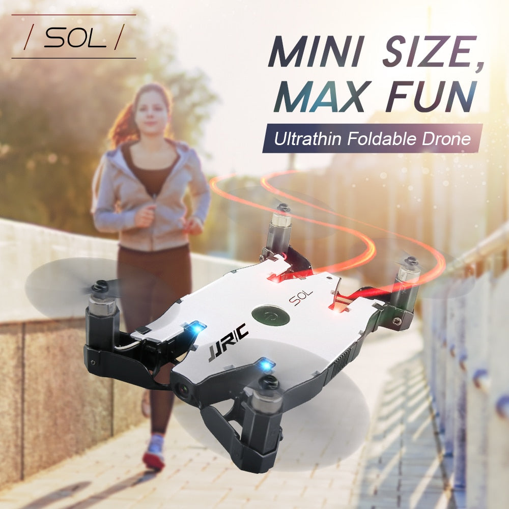 Kids RC Helicopter Ultrathin Foldable Pocket Selfie Aircraft Toy Drone