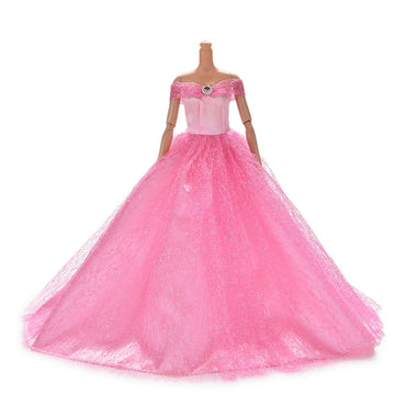 Hot sale Wedding Princess Dress Elegant for Barbie Doll toys for kids