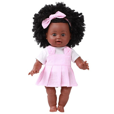 African Black Doll Handmade  Baby Doll for Kids  Gifts for Boy Girl
