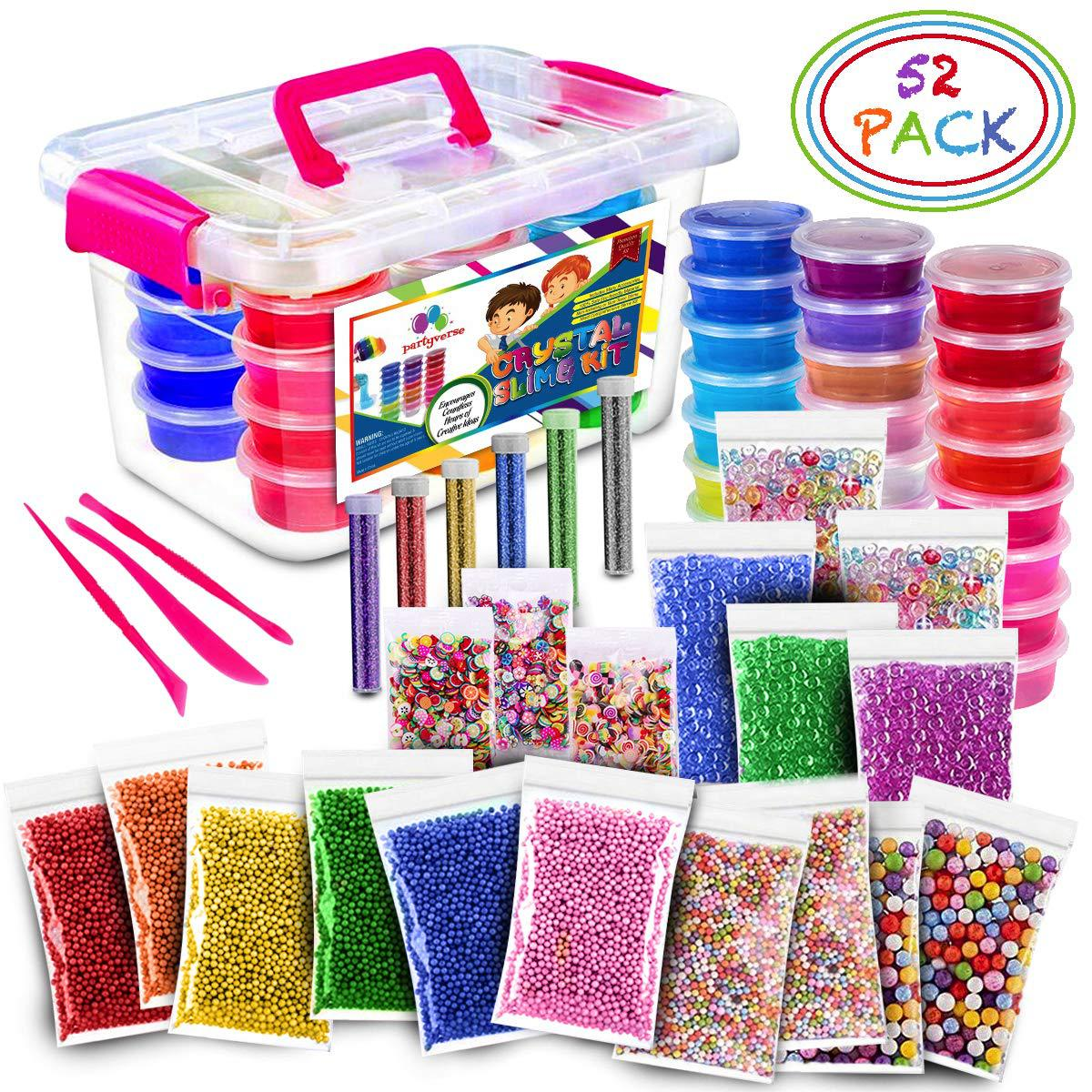 52Pack Fluffy Slime Kit 24 Color Slime Supplies Gifts toys for kids