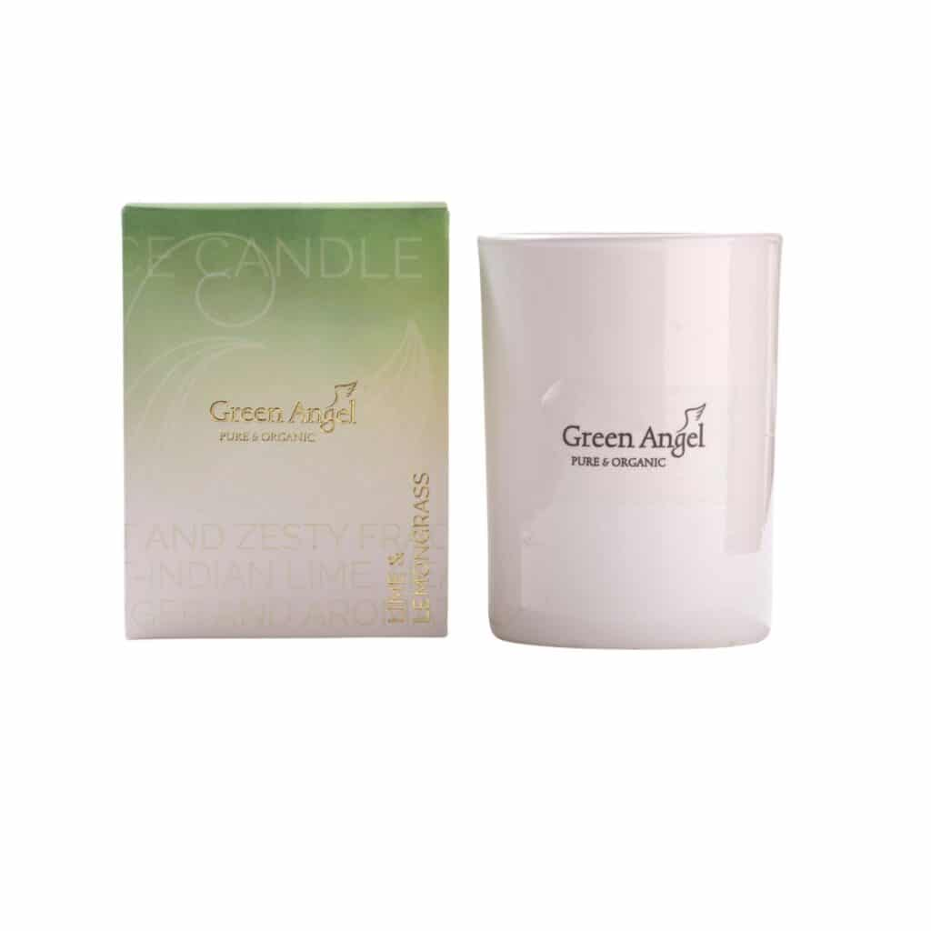 Green Angel Lime and Lemongrass Candle-Candles Delivered Ireland-Handmade Candles Ireland