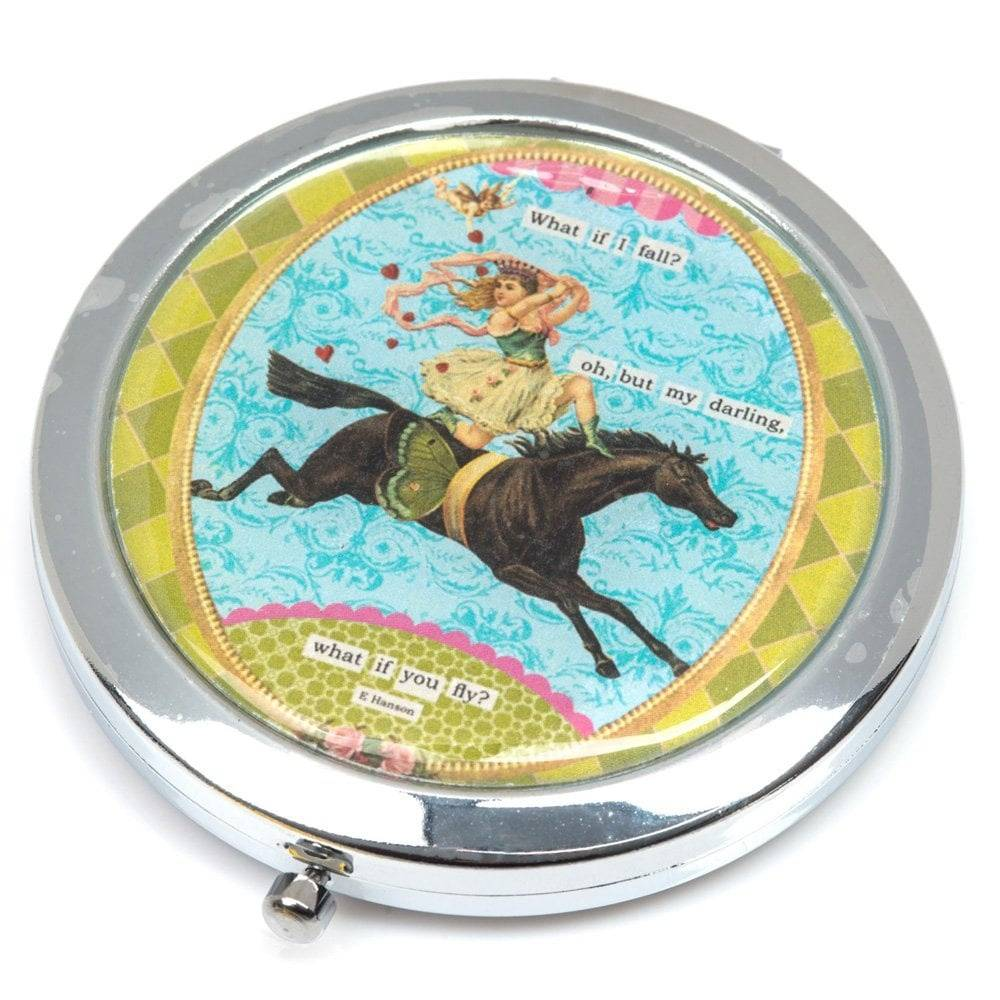 Vintage Double Compact Mirror.  Beautiful Gifts Delivered.  Irish Gift Ideas