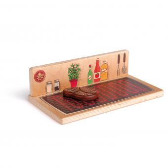 erzi montreal quebec canada play tabletop barbecue grill & hot plate bbq cuisinette en bois wooden toy nourriture jouet