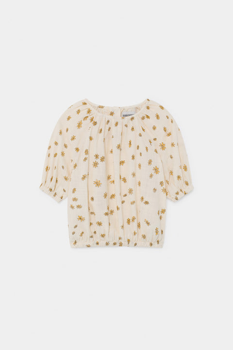 bobo choses ss20 A Dance Romance Daisy peasant Blouse for kids product picture white with yellow floral print 12001058