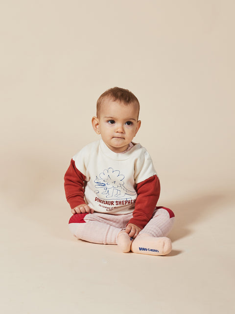 bobo choses aw20 the catalogue of marvellous trades dino sweatshirt chandail coton ouaté dino 22000031 baby bébé