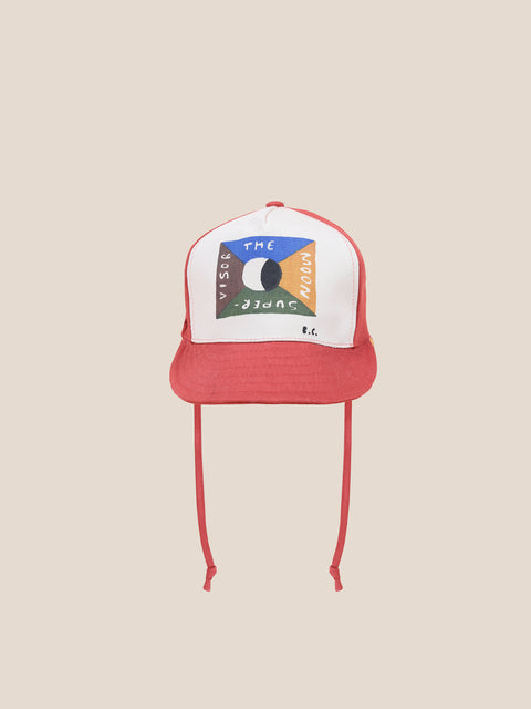 bobo choses aw20 the catalogue of marvellous trades flag patch cap casquette moon supervisor 22011003