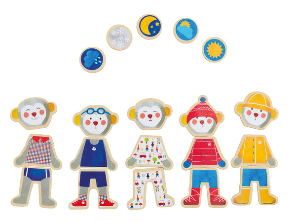 Moulin Roty Montreal Quebec Canada magnets je m'habille jeu magnetique magnetic dress-up game for kids children pour enfants aimant aimants