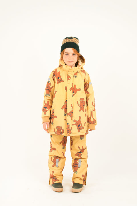 Tiny cottons aw19 luckywood montreal quebec canada aw19-293 D98 cats snow jacket manteau d'hiver de neige kits outdoor clothing vêtements extérieur pour enfants winter hiver