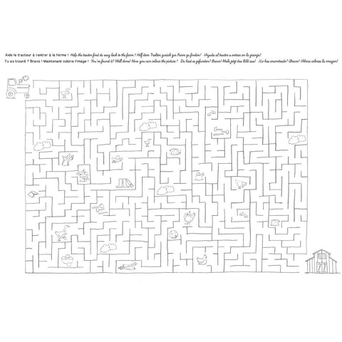 moulin roty sets de table napperons à colorier coloring placemats labyrinthe labyrinth