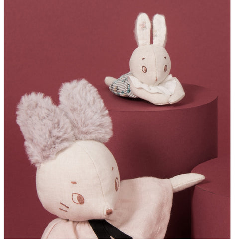 moulin roty 715021 mousse le lapin bunny mini plush toy poupée peluche