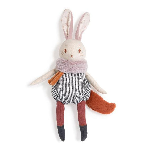 moulin roty peluche soft toy plume lapin bunny