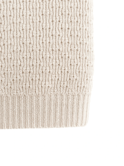 couverture blanche tricot merinos merino whool knit baby blanket off-white HVID close-up