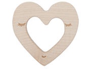 Anneau de dentition Coeur wooden story montreal quebec heart teether