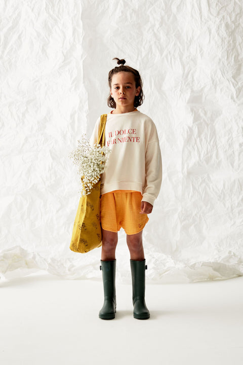 the campamento ss20 les bons vivants short gaze gauze yellow jaune bambula tc-ss20-30 kids enfants apparel vêtements