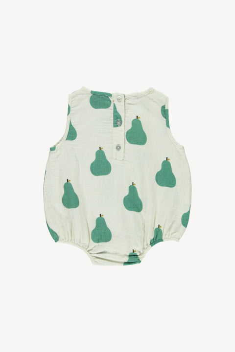 fin & vince ss20 pear sunsuit barboteuse baby bébé organic biologique coton cotton été summer vêtements clothing apparel
