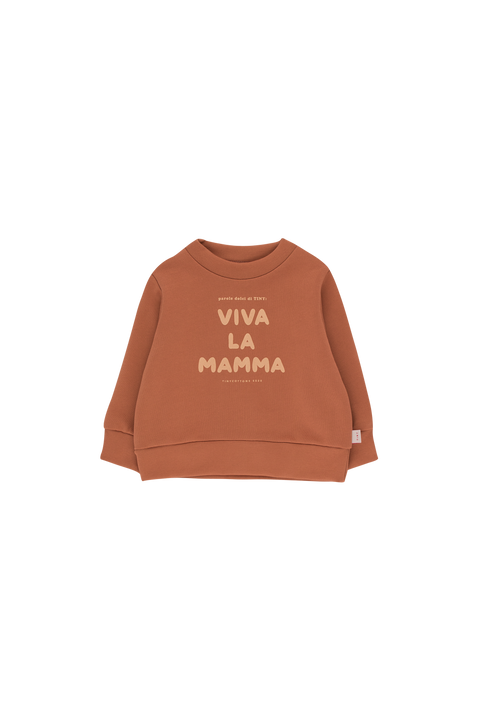 tiny cottons ss20 Dolce far niente viva la mamma sweatshirt chandail vêtements clothing bébé baby