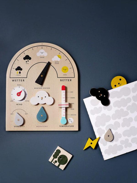 Rock&Pebble Rock & Pebble Moon Picnic My Weather Station for kids forecast station météo jouet apprentissage éducatif pour enfants Montreal Quebec Canada