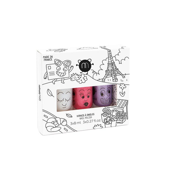 Nailmatic Montreal Canada vernis a ongle ensemble de 3 city nail polish set pour enfants for kids