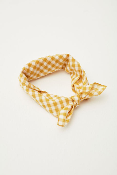 the campamento ss20 yellow checks scarf foulard carreaux jaune accessoire accessory tc-ss20-53