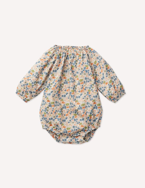 petits vilains aw20 olympia playsuit poppy forest baby bébé
