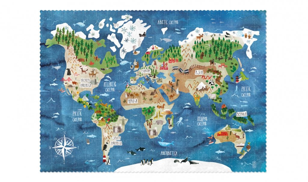 Londji Montreal Quebec Canada puzzle casse-tête enfants kids discover the world monde map carte atlas PZ392U