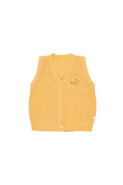 tiny cottons aw19 luckywood montreal quebec canada aw19-227 D19 little seal vest veste sans manches tricot knit kids clothing vêtements pour enfants