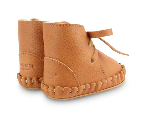 donsje pina lining baby shoes toast grain leather