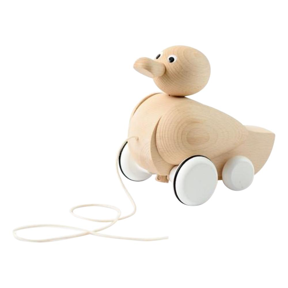 Sarah and bendrix montreal quebec canada genevieve duck canard pull toy jouet a tirer jouet toy wooden bois