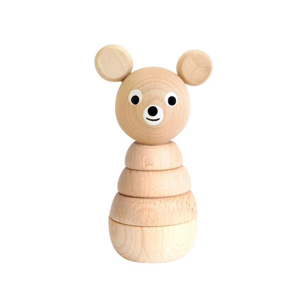 Sarah and Bendrix benedict bear stacker stacking toy wood toy for babies ourson ours jouet de bois hochet à empiler pour bébé natural naturel handmade fait main Montreal Quebec Canada