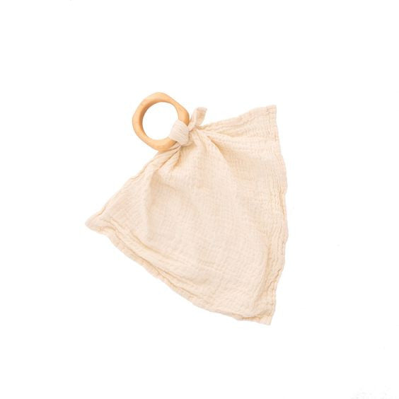 Anneau de dentition et doudou  (Naturelle) - Teether blankie (Natural)