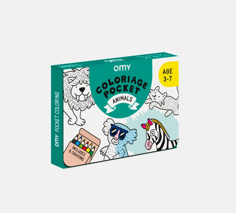 omy pocket coloring coloriage de poche animaux animals COLOK02