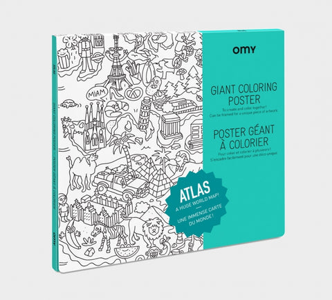 Omy montreal quebec canada affiche géante a colorier giant poster Atlas coloriage dessin enfants kids drawing coloring