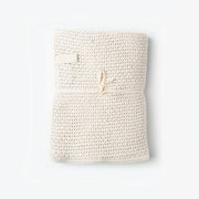 Couverture tricot coton naturel fog linen work