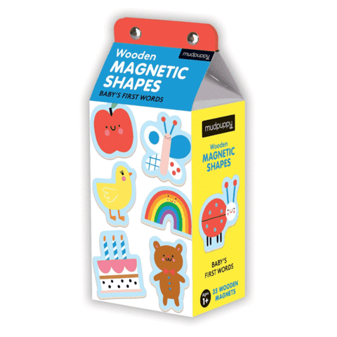 aimants magnets magnetic shapes baby's fist words premiers mots mudpuppy
