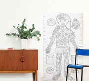 omy affiche xxl à colorier poster xxl coloring kids enfants toys jouets jeux games - my body mon corps anatomie anatomy human body corps humain
