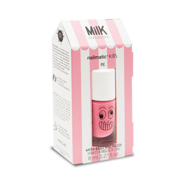 Nailmatic Montreal Quebec Canada coffret mum&me vernis à ongles rose cookie & emiko nail polish set washable lavable for kids pour enfants pink rose