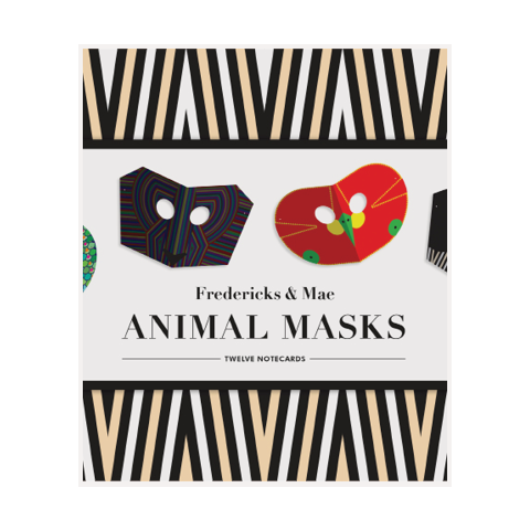 cartes de souhait notecards animal masks fredericks & mae stationery papeterie
