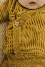 Cardigan tricot cache-coeur - Chartreuse
